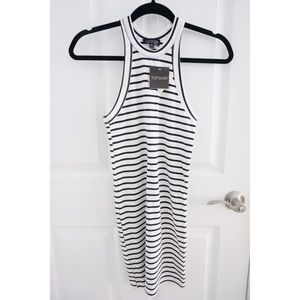 NWT Topshop Racerback Striped Mini Bodycon Dress